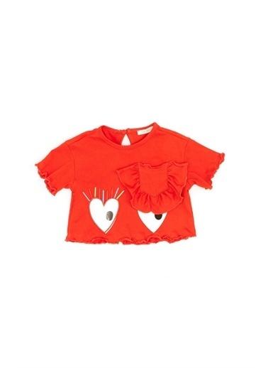 BG Baby Kız Bebek Kırmızı T-Shirt Kırmızı